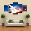 Space Shuttle Going On A Mission Multi Panel Canvas Wall Art