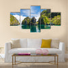 Traditional Filippino boat in the sea, Philippines multi panel canvas wall art
