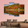 Fall forest with colorful autumn leaves and highway 60 reflecting wall art