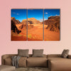 Wadi Rum desert, Jordan Multi panel canvas wall art