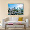 panoramic view of city elevated road  multi panel canvas wall art