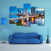 Urban City Skyline, Chao Phraya River, Bangkok, multi panel canvas wall art
