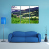 A Beautiful green hills in little village Breitenbach, Alsace, France Multi panel Canvas Wall Art