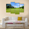 Golf course landscape viewed from the putting green Multi Panel Canvas Wall Art