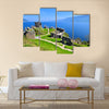 A flooded jetty in Derwent Water Lake District England multi panel canvas wall art