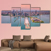 Aerial Chicago panorama cityscape multi panel canvas wall art