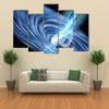 A Stellar Black Hole Emits Streams of Plasma from its Event Horizon Multi Panel Canvas Wall Art