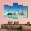 Shanghai skyline and sunny day multi panel canvas wall art