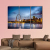 City of St. Louis skyline Image of St. Louis downtown Multi panel canvas wall art