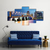 West Palm Beach at Night, Florida, United States multi panel canvas wall art