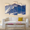 Fantastic evening winter landscape. Colorful overcast sky Multi panel canvas wall art