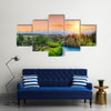River Clutha With Southern Alps Peak With Sunset, New Zealand, Multi Panel Canvas Wall Art