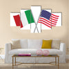 American and Italian flags Multi panel canvas wall art