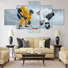 Ice hockey players on the ice Multi panel canvas wall art