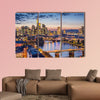 Frankfurt am Main, Germany Financial District skyline multi panel canvas wall art