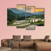 Japanese rice terraces at sunset. Maruyama-senmaida, Kumano, canvas wall art