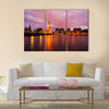 The Big Ben and Houses of parliament at dusk, London, UK multi panel canvas wall art