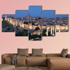 Medieval city of Avila illuminated at dusk Castile and Leon, Spain, Multi Panel Canvas Wall Art