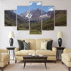 Maroon Bells and Maroon Lake near Aspen Multi panel canvas wall art