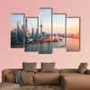 Beautiful shanghai at dusk multi panel canvas wall art