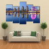 A beautiful clear summer night in Vancouver,  Multi panel canvas wall art