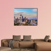 Seattle downtown skyline and Mt Rainier at sunset wall art