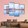 Singapore skyline, view from the Garden by the Bay multi panel canvas wall art