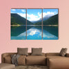 Beautiful view of high blue mountain lake multi panel canvas wall art