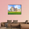 Piazza dei Miracoli complex with the leaning tower in Italy multi panel canvas wall art