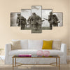 German soldiers. WW2 reenacting Multi Panel Canvas Wall Art