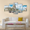 Street Scene To The Capitol Buildiing In Old Havana Multi Panel Canvas Wall Art