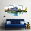 View of Bornem Castle from the river side Multi panel canvas wall art