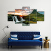 Beautiful view of Waterfall ICELAND Multi Panel Canvas Wall Art