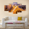 beautiful overpass at the intersection multi panel canvas wall art