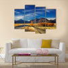 Farmland with grazing sheep and Mount Cook Multi Panel Canvas Wall Art