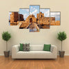 The Sidon Sea Castle, Lebanon, Multi Panel Canvas Wall Art