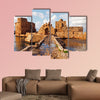 Sidon Sea Castle, Sidon, Lebanon multi panel canvas wall art