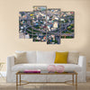 urban cityscape of busy traffic multi panel canvas wall art