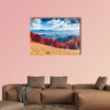 Colorful autumn landscape in the mountain village Foggy morning wall art