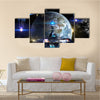 Imaginary Interstellar Deep Space Travel Multi Panel Canvas Wall Art
