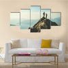 Two Female Hikers On Top Of The Mountain Enjoying Valley View, Ben  A Multi Panel Canvas Wall Art