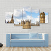 View of London with the Big Ben, the Clock Tower, And Westminster Multi Panel Canvas Wall Art
