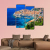 Panoramic view of old town Dubrovnik, Croatia multi panel canvas wall art