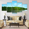 Forest lake Multi panel canvas wall art