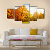 Creative Autumn landscape in the mountain village Multi panel canvas wall art