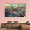 London aerial view with Tower Bridge in sunset time multi panel canvas wall art
