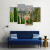 View Of World's Most Beautiful Bahai Gardens In Haifa, Palesteine, Multi Panel Canvas Wall Art
