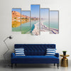 Landscape Dead Sea coastline in summer day Multi panel canvas wall art
