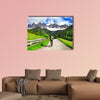 Activities in Dolomites Mountains, northern Italy Multi panel canvas wall art