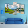 Salzburg cityscape with Festung Hohensalzburg and Salzach River in summer multi panel canvas wall art
